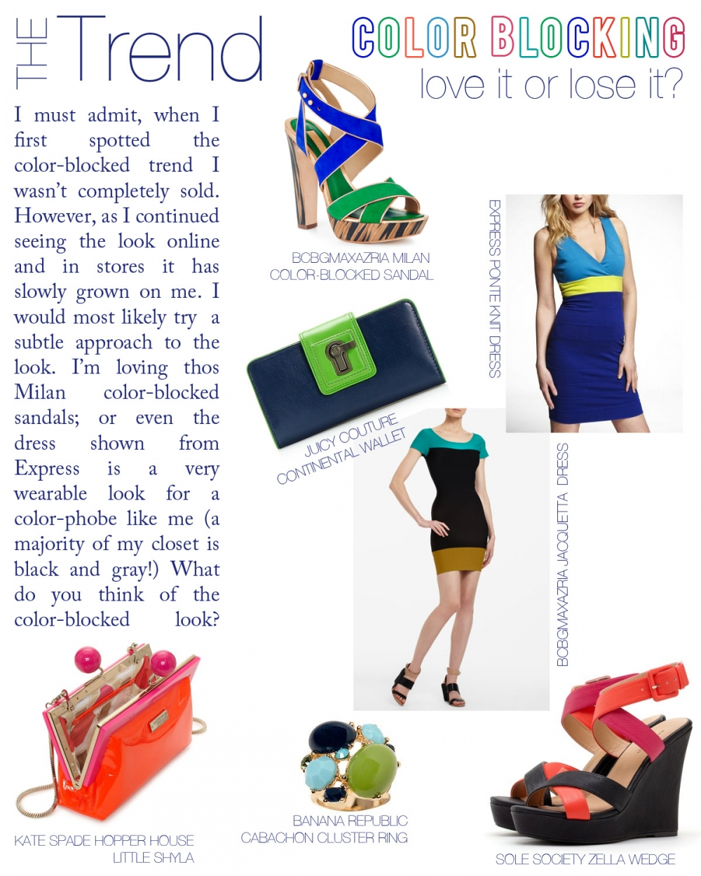 Color-Blocked Accessories