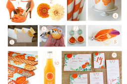 tangerine wedding ideas